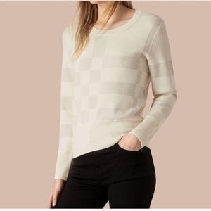 Burberry Check Knot Wool Blend Sweater in large